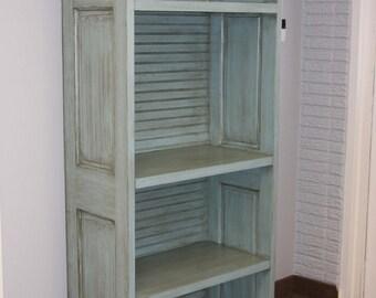 Handmade Shelf Made w/ Reclaimed Doors