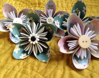 Small paper flower decorations