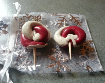 Polymer clay lollypop earrings