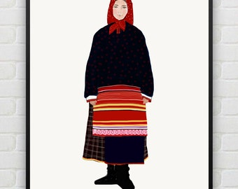 Girl in Russian national dress