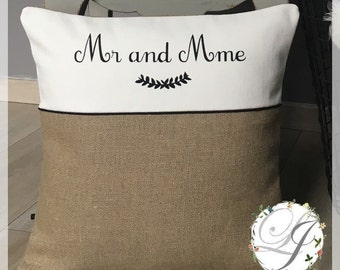 Customizable cushion in linen