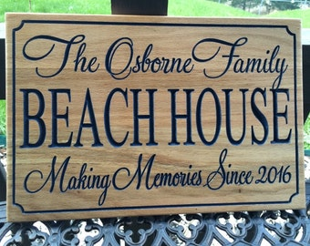 Personalized Beach, Cabin, Cottage or Home Sign