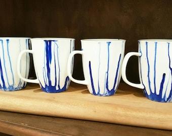 Abstract Mugs Set of 4