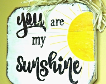 You Are My Sunshine Wall Sign | Rustic Wall Decor | You Are My Sunshine Wall Art | Special Christmas Gift | Christmas Gift For Her