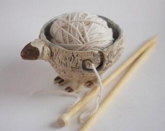 Yarn Bowl Sheep Knitting