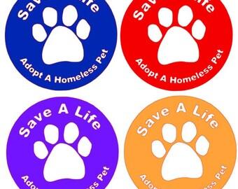 Animal Rescue car sticker, rescue dog decals, animal rescue bumper stickers, pet rescue stickers, SPCA sticker, Animal Rescue and Adoption