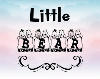 Little bear SVG for Silhouette Cameo cutting Instant download vector file for crafting