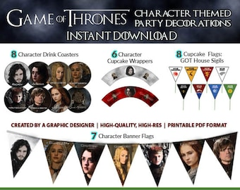 Game of Thrones Party Decorations (Instant Download) Game of Thrones Party Supplies, Game of Thrones Party, Game of Thrones Decor