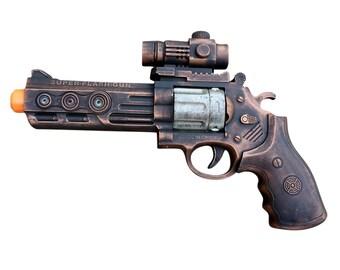 WHOLESALE Steampunk TOY gun toy pistol laser LIGHT Victorian Halloween costume cosplay prop theatre Zombie man copper tone