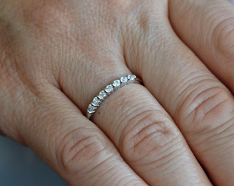 925 Sterling Silver Zircon Ring, Bridal Ring, Engagement Ring,Promise Ring, Anniversary gift for Women