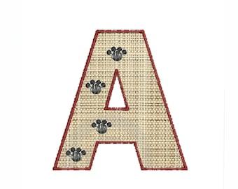 Machine embroidery designs Applique Monogram fonts Paw Print
