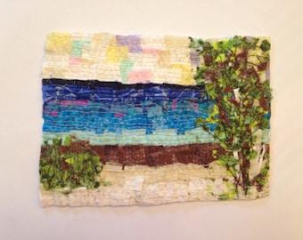 Landscape confetti quilt art