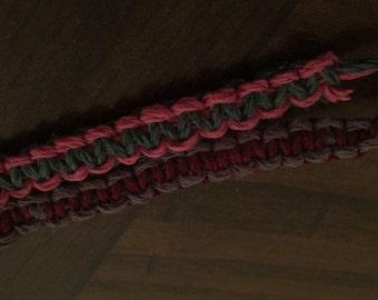 Reversible Macrame Hemp Bracelet