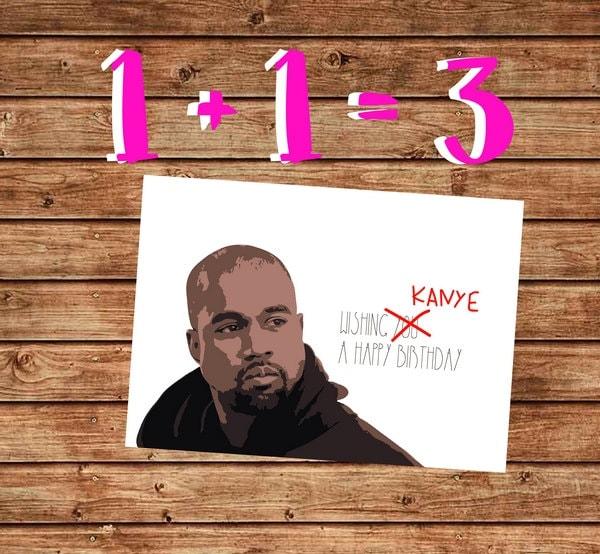 Printable Birthday Card Kanye West Birthday Card Beyonce