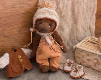 Mike - dressed teddy bear, boy, toy