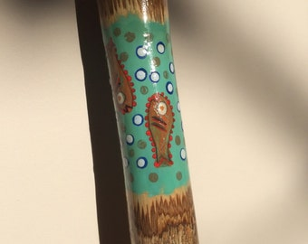Smaller sized collectible walking stick, hand painted