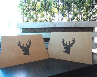 Deer Silhouette Card Set of 5