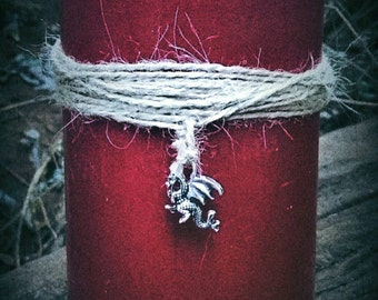 DRAGON'S BLOOD Pillar Candle - Protection - Power - Strength - Courage
