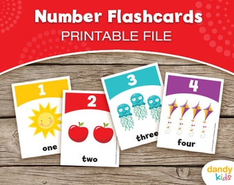 Number Flashcards / Printable Flashcards / Numbers 1-10 / Educational Flashcards