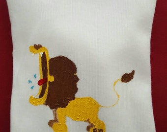 Hand Painted Lion Baby Onsie, 0-3 months