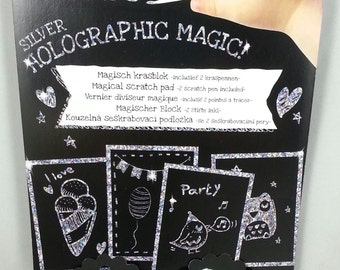 40 sheets of Holographic Magic paper, scratch paper, scrapbooking and card make scrapbook paper pad