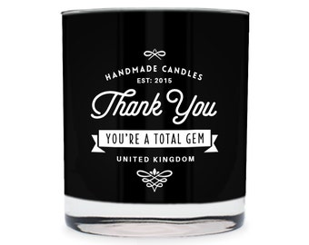 Thank You ~ You're a Total Gem Scented Glass Candle