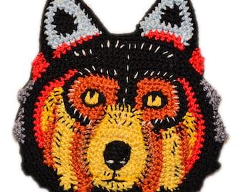 Knitted brooch/Handmade brooch/Crochet brooch