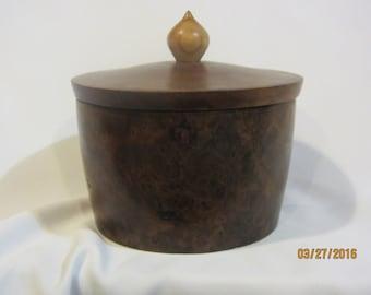 Redwood Burl Lidded Box