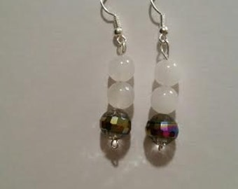 Multi colored bead earrings
