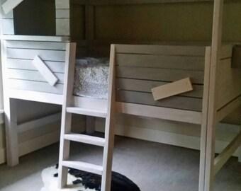 Cabin style loft bed