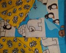 polar bears,penguins & happy skulls.  pillowcase set!