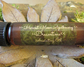 Dreamtime Anointing Oil with Mugwort // Essential Oil // Organic // Wicca // Magic // Ritual // Astral projection // Protection