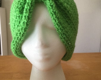 Crochet turban hat
