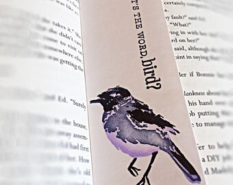 Handmade Bird bookmark
