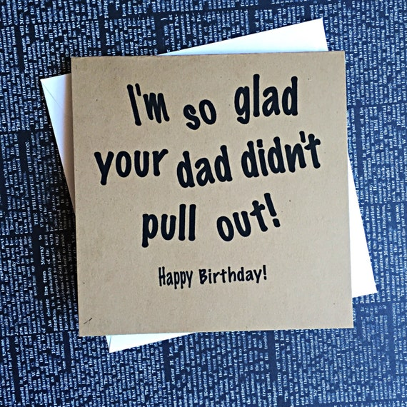 Funny Naughty Birthday Pull Out Card Inappropriate Card