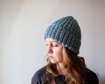 Knit blue hat