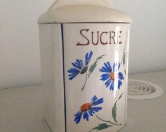 Box old sugar painted (year 30/40)