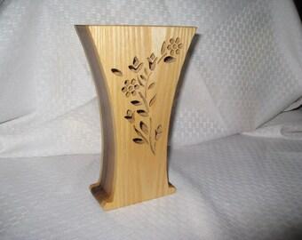 Standard wood vase