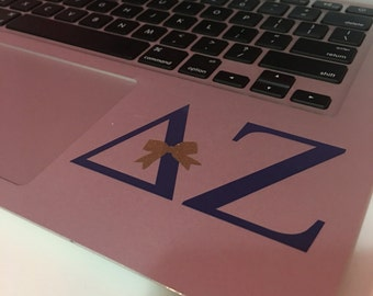 Delta Zeta Decal with a Bow