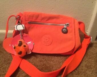 NWT/Kipling crossbody neon/bright orange purse!!