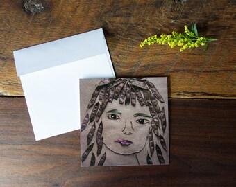 Alie - Flower Art Greeting Card