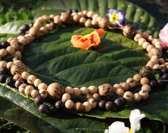Handmade Amazonian Seed Necklace - Acai, Paxiuba (the Walking Tree) from Brazil