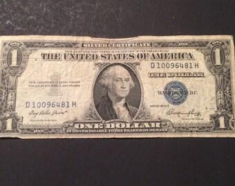 1935 E Silver Certificate One Dollar Bill