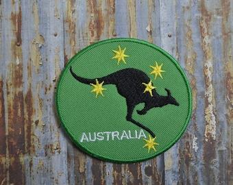 Australia Kangaroo Flag Aussie Iron On Or Sew On Patch