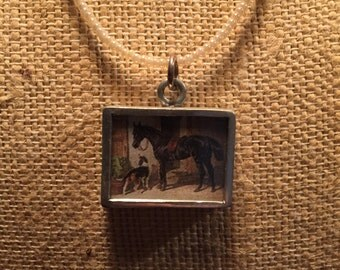 Reversable Horse and Dog Necklace