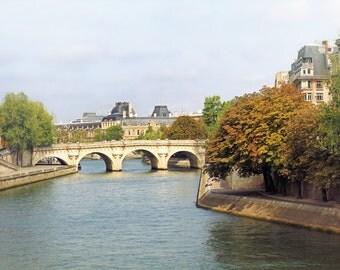 Autumn in Paris, Paris art print, Paris bridge, Seine River, romantic Paris, travel photography, fine art photography, home decor, 16x24