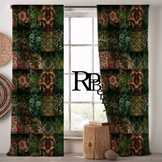 bohemian gypsy curtains moroccan drapes emerald pink blue nostalgic