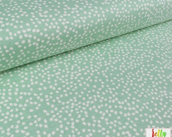 ORGANIC KNIT Fabric - Mint Firefly Dots from Mod Basics 3 Collection by Birch Fabrics - UK Seller