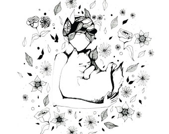 Soft Kitty, A4 print, 21cm x 29.5cm, unframed