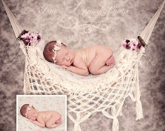 Digital Newborn props Download Photography studio ( Hammock With Texture Background )